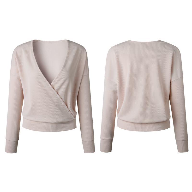 1X-Femme-Mode-Col-En-V-a-Manches-Longues-Chandail-En-Tricot-Dames-Decontrac-G2O7 miniature 26