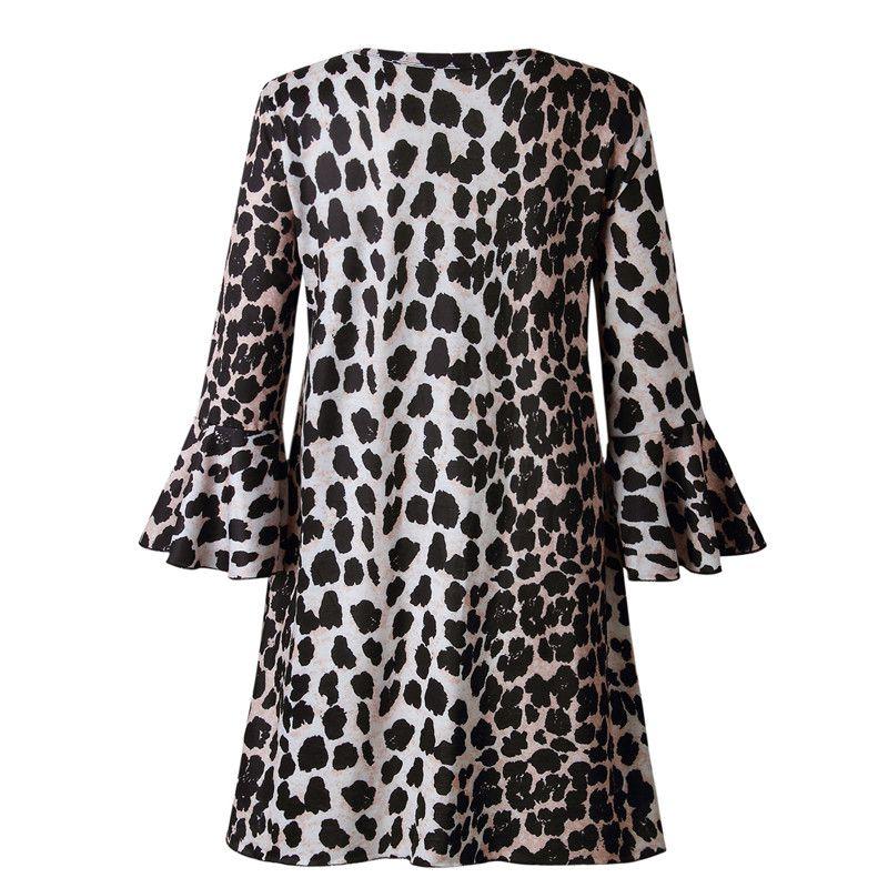 Mode-Femme-Sexy-Manche-evasee-Col-En-V-Mini-Robe-Dames-Fete-Volants-a-Manch-H8C1 miniature 15
