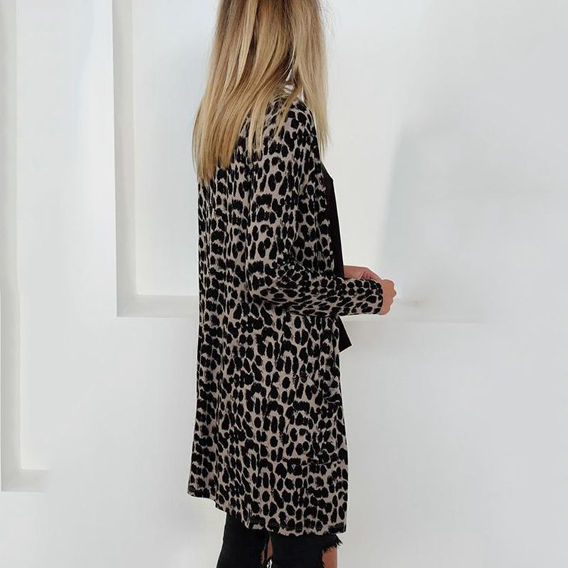 Blusa-Cardigan-Delantero-Abierto-De-Estampado-De-Moda-De-Mujer-Chaqueta-Rop-X2D8 miniatura 3