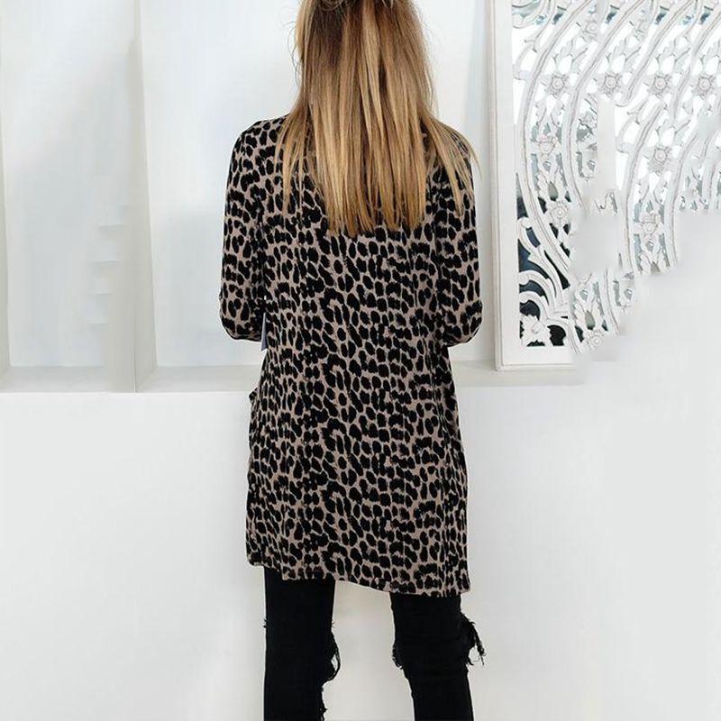 Blusa-Cardigan-Delantero-Abierto-De-Estampado-De-Moda-De-Mujer-Chaqueta-Rop-X2D8 miniatura 4