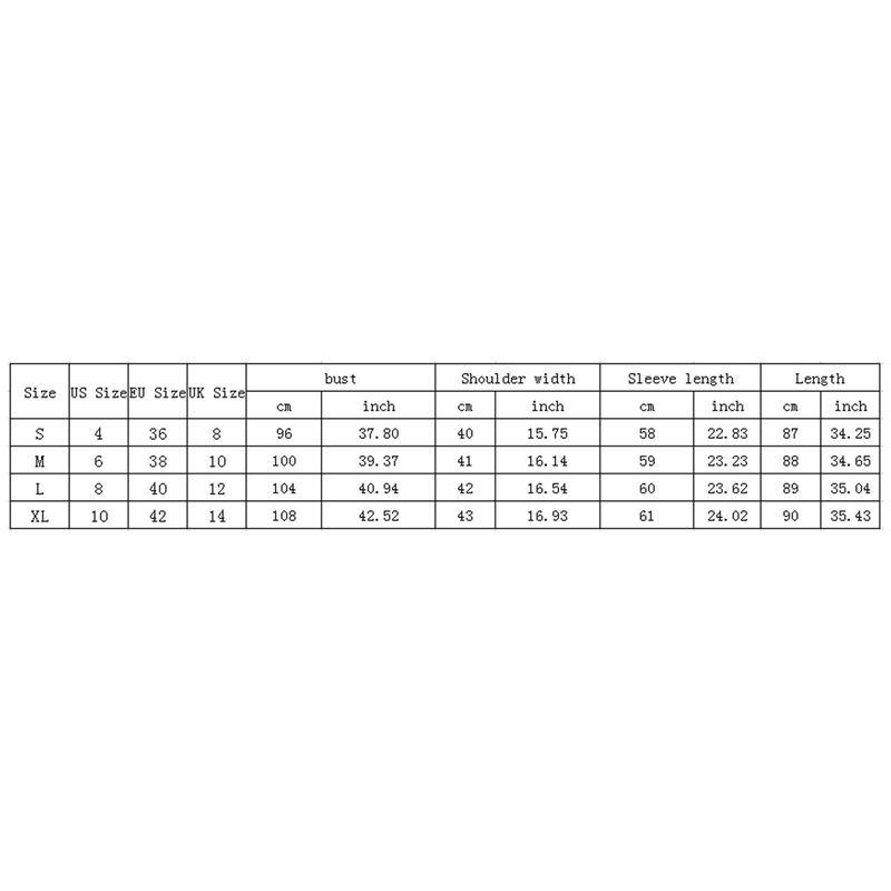 Blusa-Cardigan-Delantero-Abierto-De-Estampado-De-Moda-De-Mujer-Chaqueta-Rop-X2D8 miniatura 9