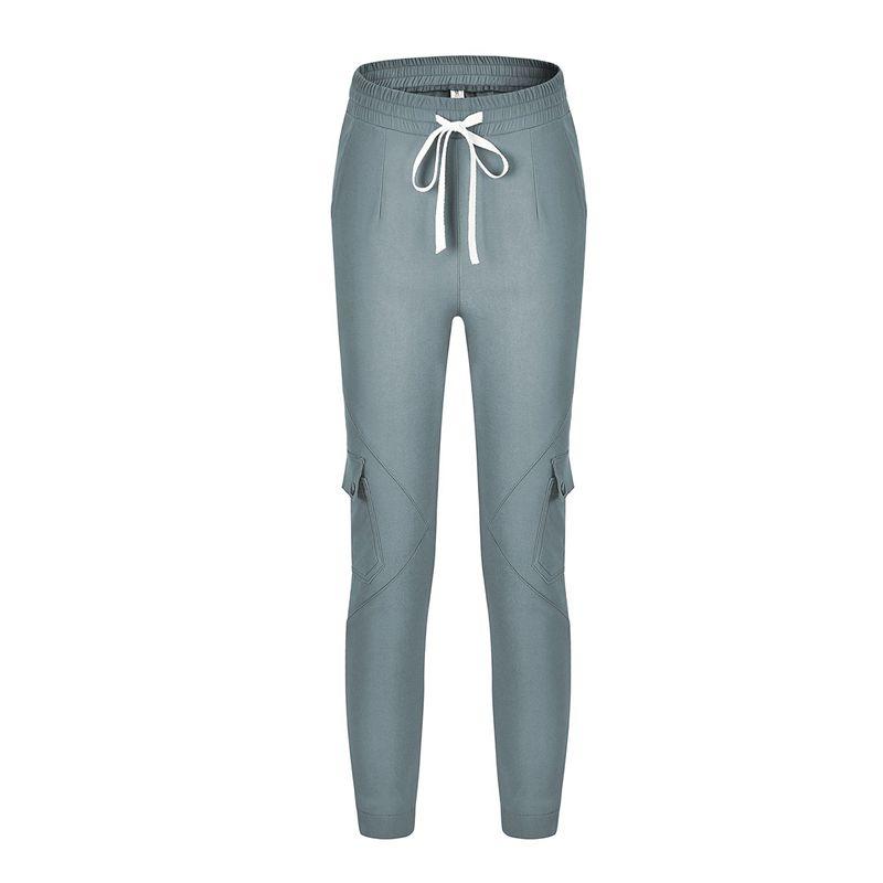 Pantalones-Lapiz-Multibolsillo-De-Moda-Para-Mujer-Pantalones-Largos-Elastic-N4D7 miniatura 6