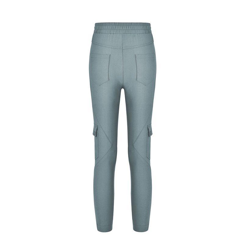 Pantalones-Lapiz-Multibolsillo-De-Moda-Para-Mujer-Pantalones-Largos-Elastic-N4D7 miniatura 7