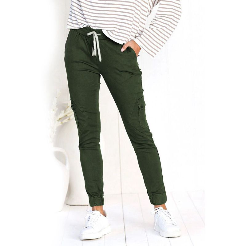 Pantalones-Lapiz-Multibolsillo-De-Moda-Para-Mujer-Pantalones-Largos-Elastic-N4D7 miniatura 13