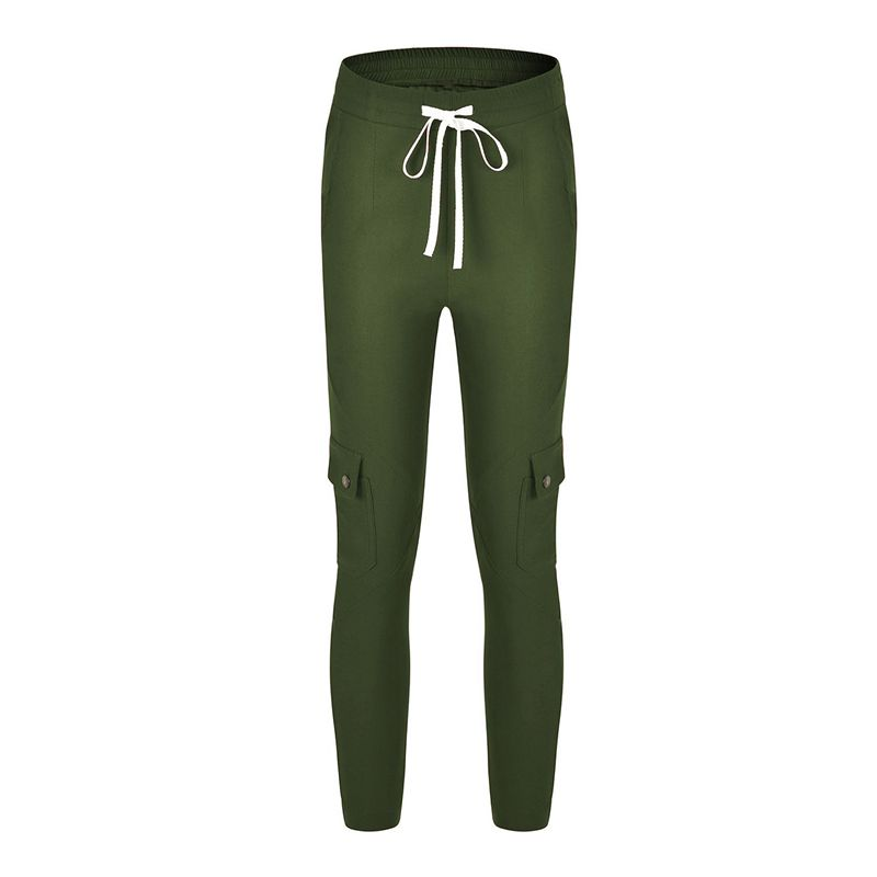 Pantalones-Lapiz-Multibolsillo-De-Moda-Para-Mujer-Pantalones-Largos-Elastic-N4D7 miniatura 16