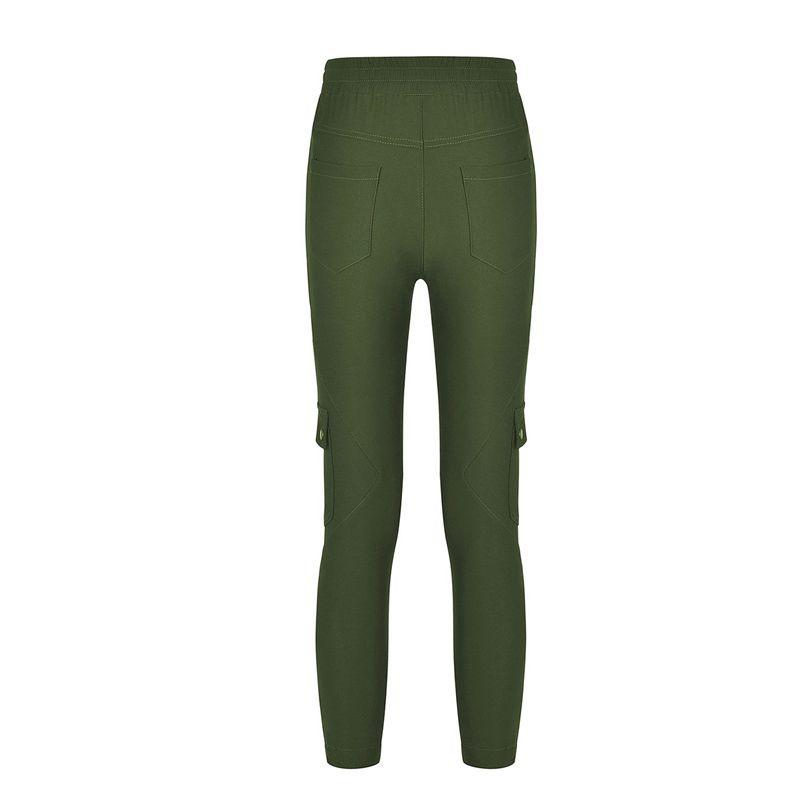 Pantalones-Lapiz-Multibolsillo-De-Moda-Para-Mujer-Pantalones-Largos-Elastic-N4D7 miniatura 17