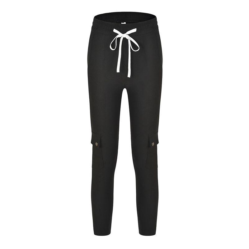 Pantalones-Lapiz-Multibolsillo-De-Moda-Para-Mujer-Pantalones-Largos-Elastic-N4D7 miniatura 26