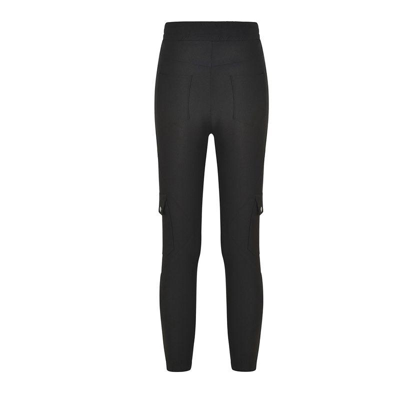 Pantalones-Lapiz-Multibolsillo-De-Moda-Para-Mujer-Pantalones-Largos-Elastic-N4D7 miniatura 27