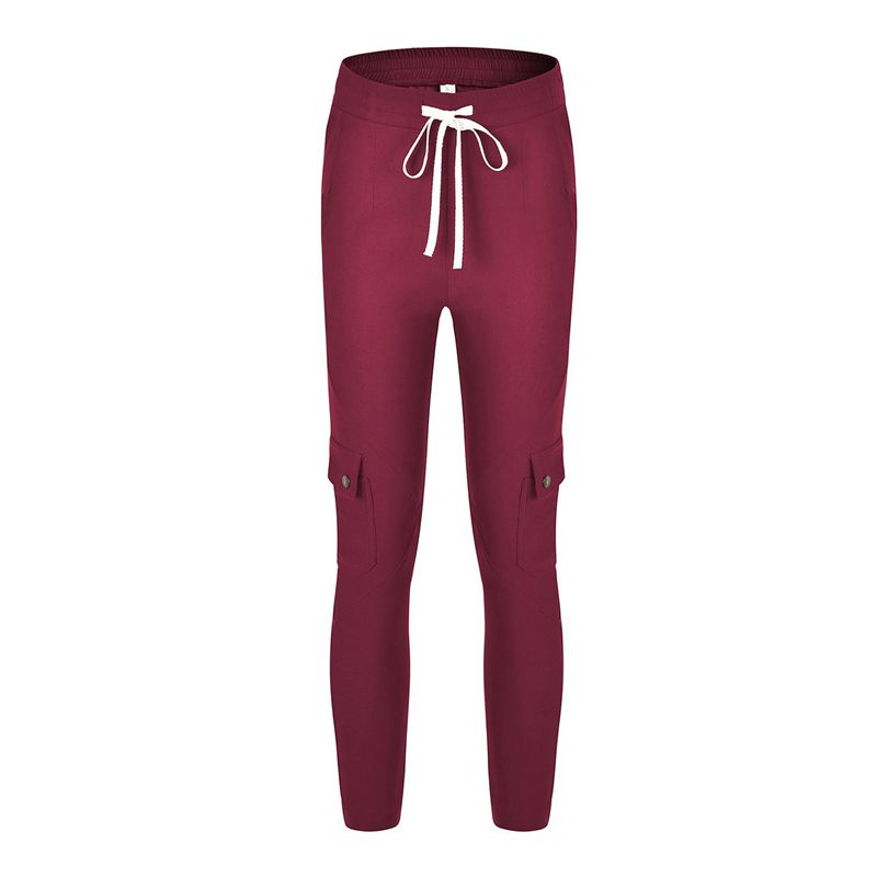 Pantalones-Lapiz-Multibolsillo-De-Moda-Para-Mujer-Pantalones-Largos-Elastic-N4D7 miniatura 35