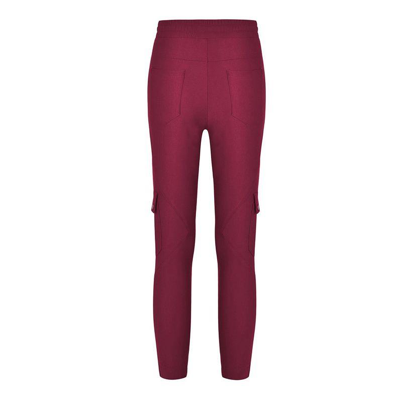 Pantalones-Lapiz-Multibolsillo-De-Moda-Para-Mujer-Pantalones-Largos-Elastic-N4D7 miniatura 36