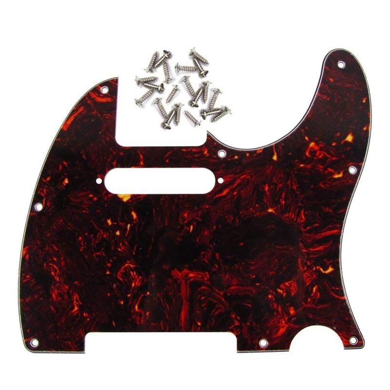 4-Plis-de-Tele-Pickguard-de-Guitare-8-Trous-Pour-Telecaster-Guitare-de-Styl-H2L5 miniature 9