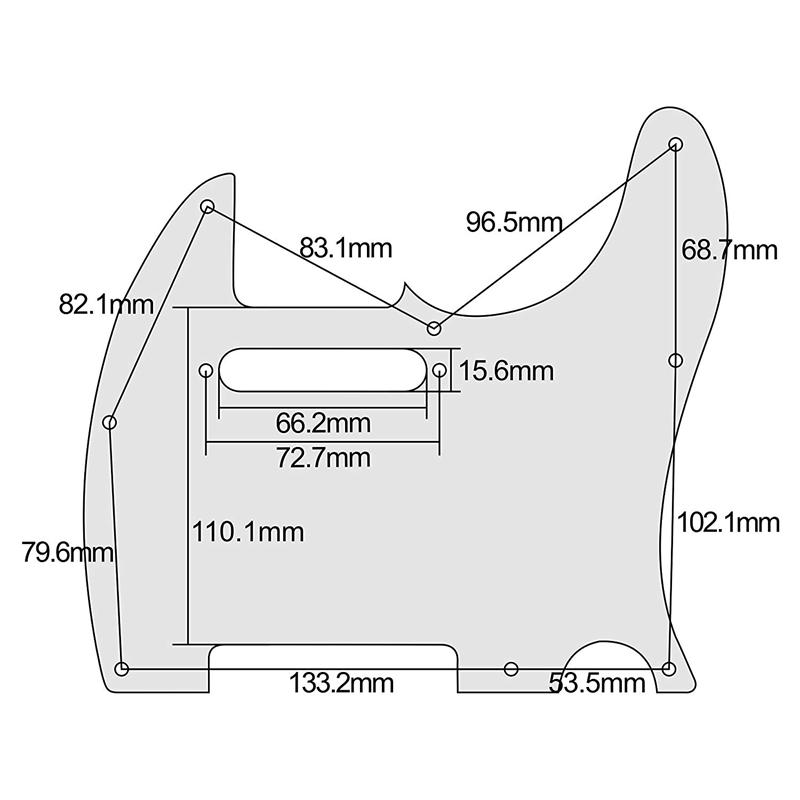 4-Plis-de-Tele-Pickguard-de-Guitare-8-Trous-Pour-Telecaster-Guitare-de-Styl-H2L5 miniature 13