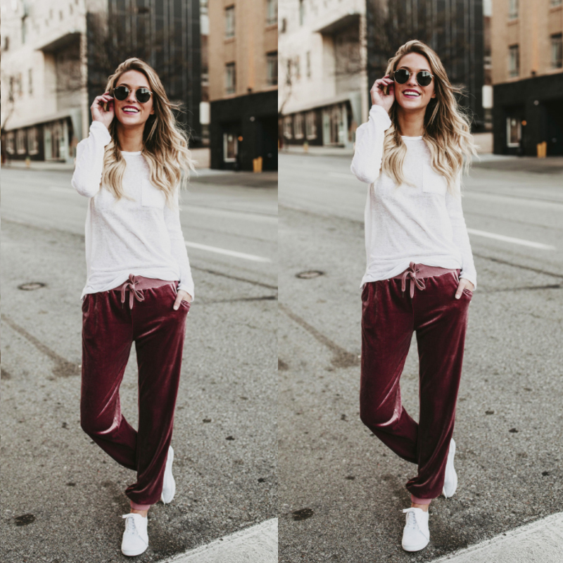 Fashion-Wide-Leg-Pant-Women-Ladies-Velvet-Trousers-Casual-Loose-Holiday-Beach-Q6 thumbnail 5