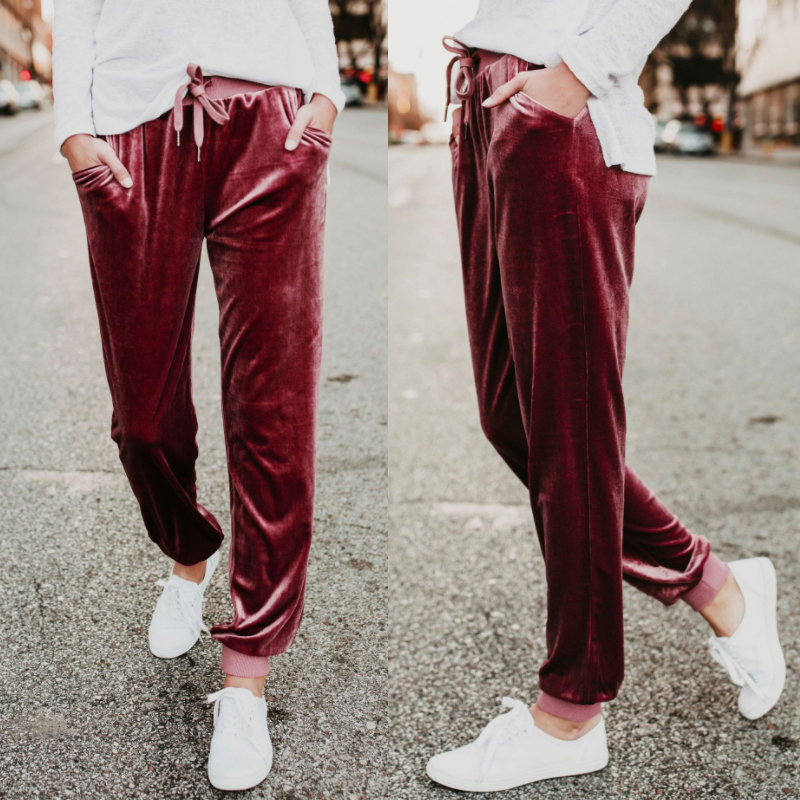 Fashion-Wide-Leg-Pant-Women-Ladies-Velvet-Trousers-Casual-Loose-Holiday-Beach-Q6 thumbnail 6