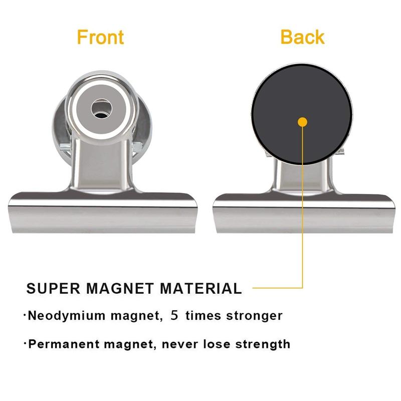 2X-18-x-Heavy-Duty-Refrigerateur-Pince-A-Crochet-Magnetique-Avec-Aimant-Neo-H2C8 miniature 5