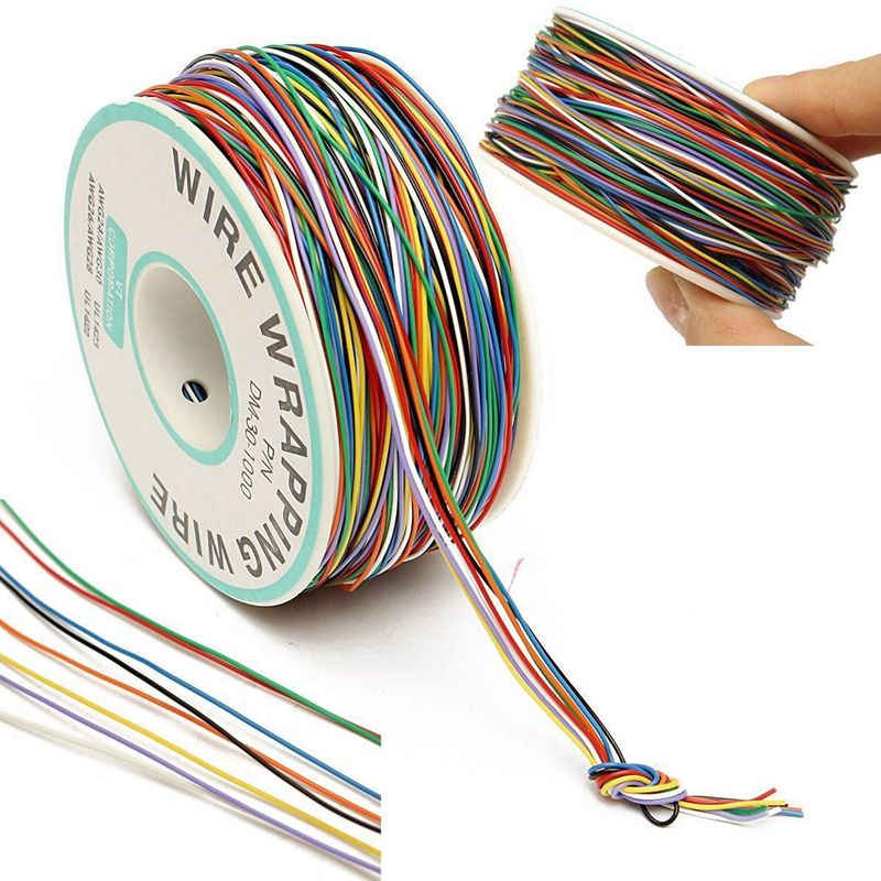250M//Roll Wire-Wrapping Wire 30# 30AWG Cable PCB Jumper Cable Multi-Colour New