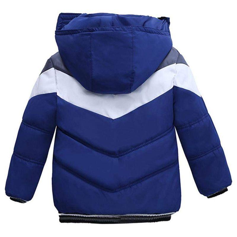Manteau-Pour-Garcons-Filles-Bebe-Bambin-Vetement-De-Coton-Epais-D-039-Hiver-Pou-Q2L7 miniature 3