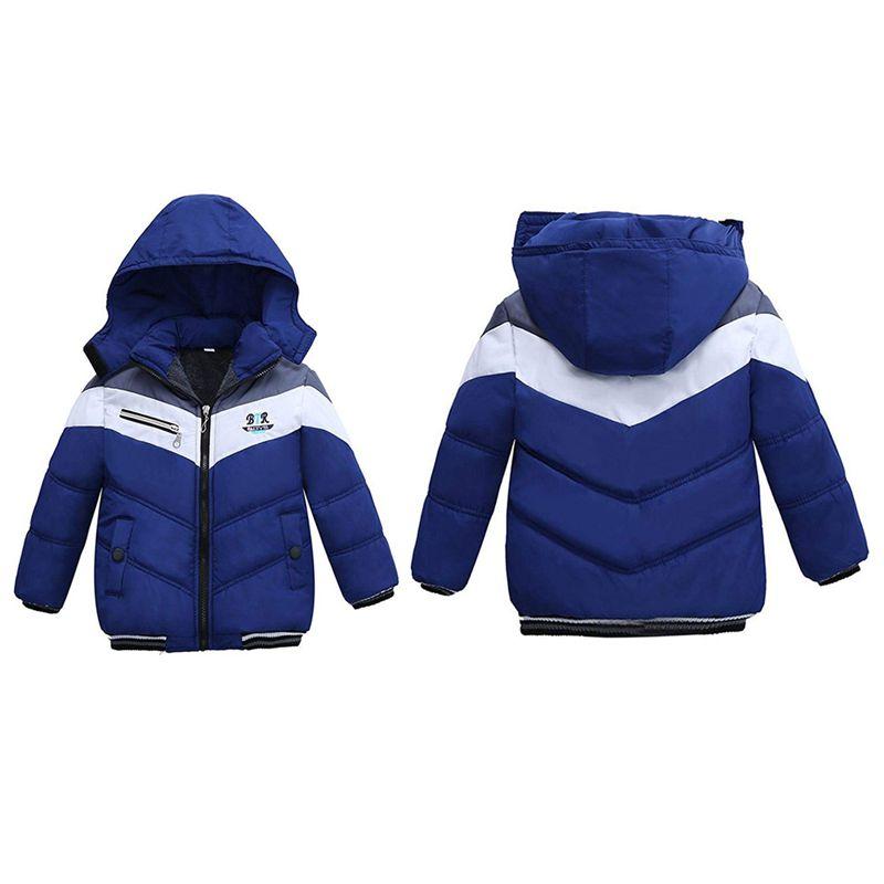 Manteau-Pour-Garcons-Filles-Bebe-Bambin-Vetement-De-Coton-Epais-D-039-Hiver-Pou-Q2L7 miniature 4