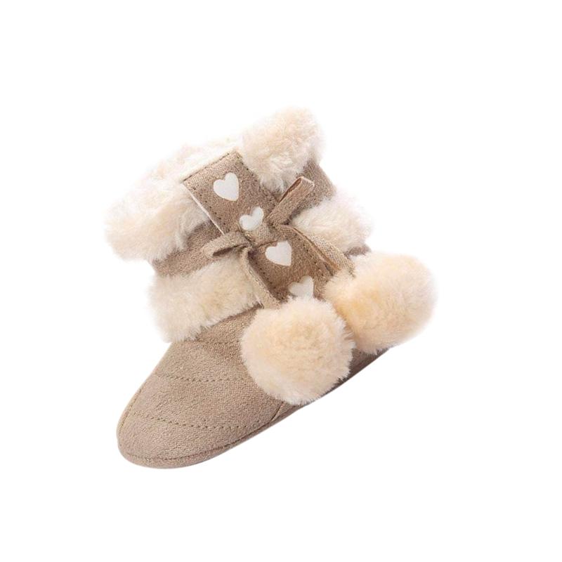 2X-Bottes-De-Neige-Pour-Fille-Enfant-Bambin-Bebe-Chaussures-Berceau-Chaussu-P3P7 miniature 3