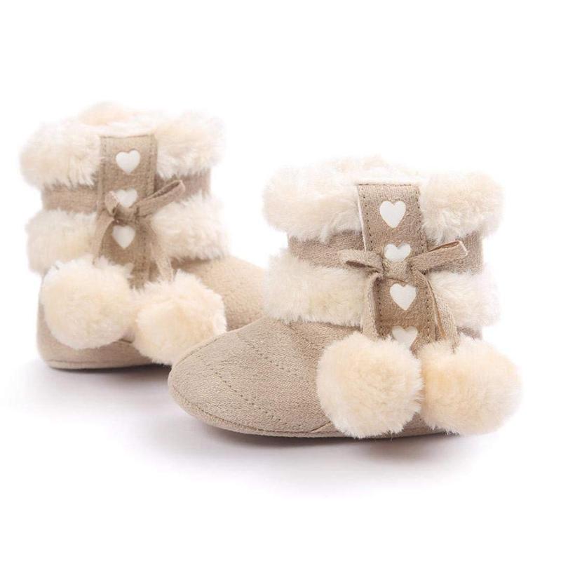 2X-Bottes-De-Neige-Pour-Fille-Enfant-Bambin-Bebe-Chaussures-Berceau-Chaussu-P3P7 miniature 4