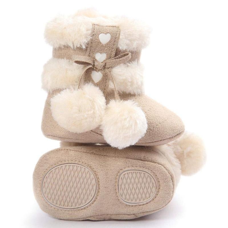 2X-Bottes-De-Neige-Pour-Fille-Enfant-Bambin-Bebe-Chaussures-Berceau-Chaussu-P3P7 miniature 6