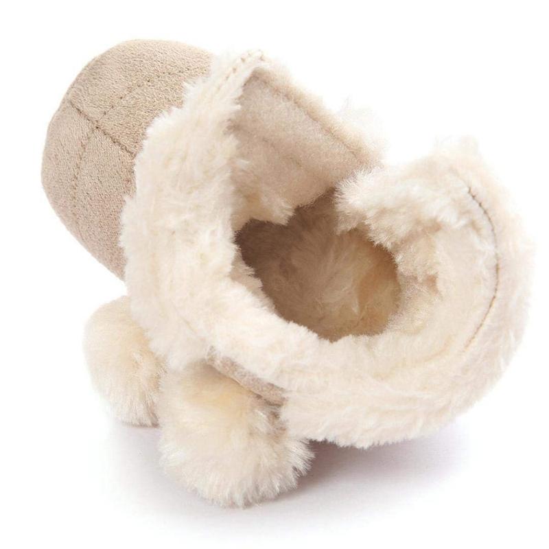 2X-Bottes-De-Neige-Pour-Fille-Enfant-Bambin-Bebe-Chaussures-Berceau-Chaussu-P3P7 miniature 7