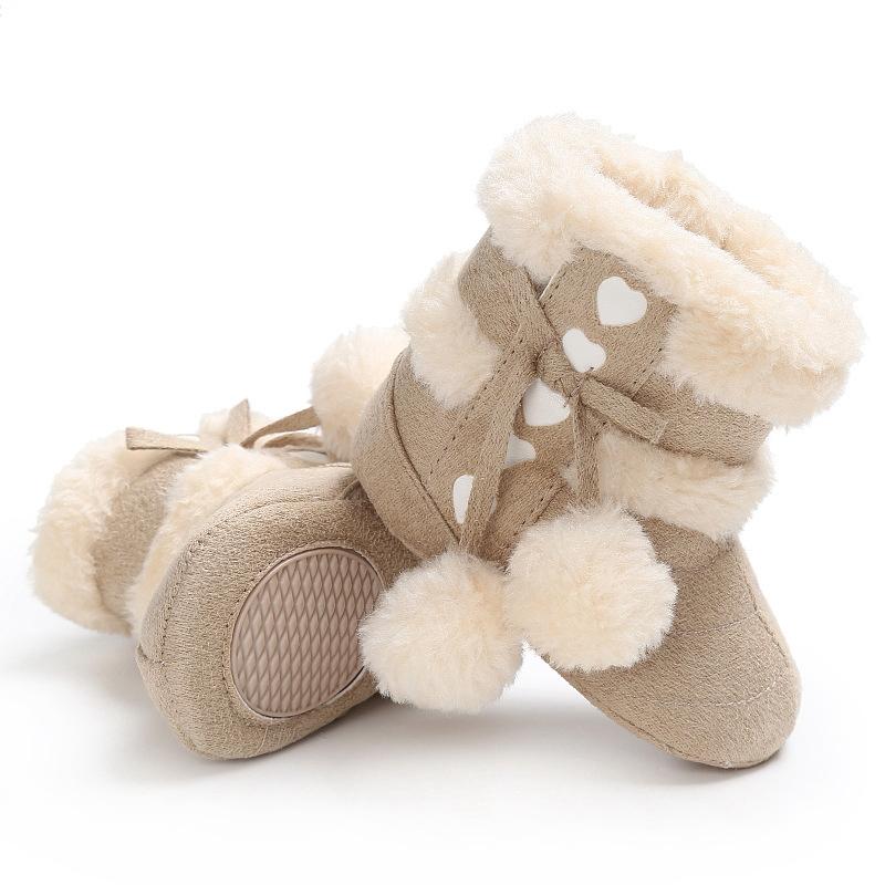 2X-Bottes-De-Neige-Pour-Fille-Enfant-Bambin-Bebe-Chaussures-Berceau-Chaussu-P3P7 miniature 8