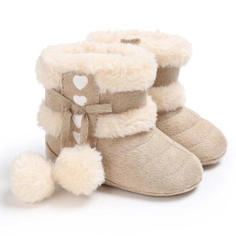 2X-Bottes-De-Neige-Pour-Fille-Enfant-Bambin-Bebe-Chaussures-Berceau-Chaussu-P3P7 miniature 9
