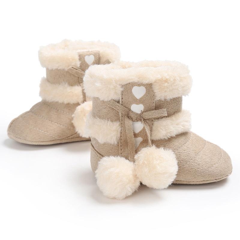 2X-Bottes-De-Neige-Pour-Fille-Enfant-Bambin-Bebe-Chaussures-Berceau-Chaussu-P3P7 miniature 10