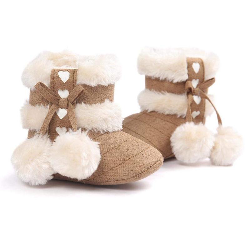 2X-Bottes-De-Neige-Pour-Fille-Enfant-Bambin-Bebe-Chaussures-Berceau-Chaussu-P3P7 miniature 13