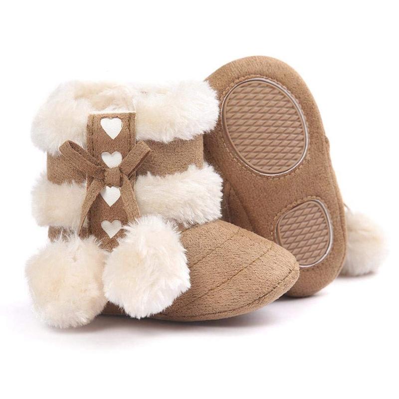 2X-Bottes-De-Neige-Pour-Fille-Enfant-Bambin-Bebe-Chaussures-Berceau-Chaussu-P3P7 miniature 16