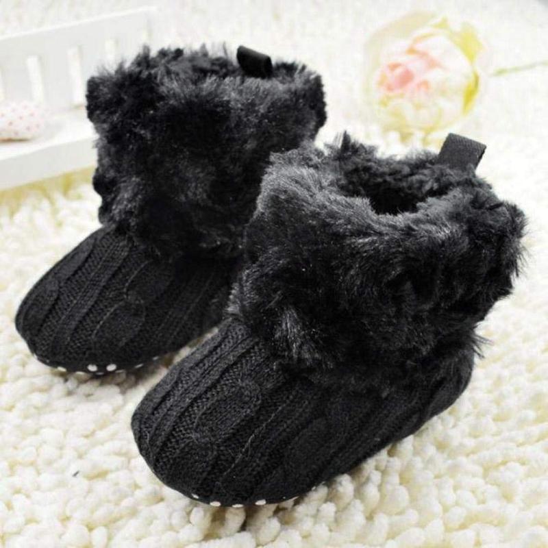 2X-Bottes-De-Neige-Pour-Fille-Enfant-Bambin-Bebe-Chaussures-Berceau-Chaussu-W3B2 miniature 3