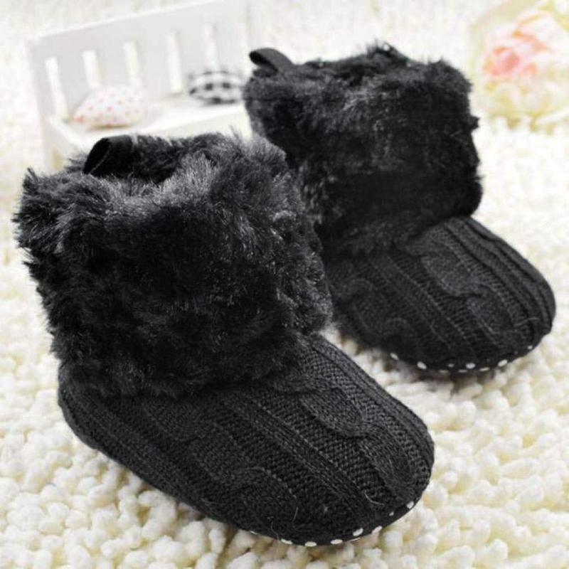 2X-Bottes-De-Neige-Pour-Fille-Enfant-Bambin-Bebe-Chaussures-Berceau-Chaussu-W3B2 miniature 6