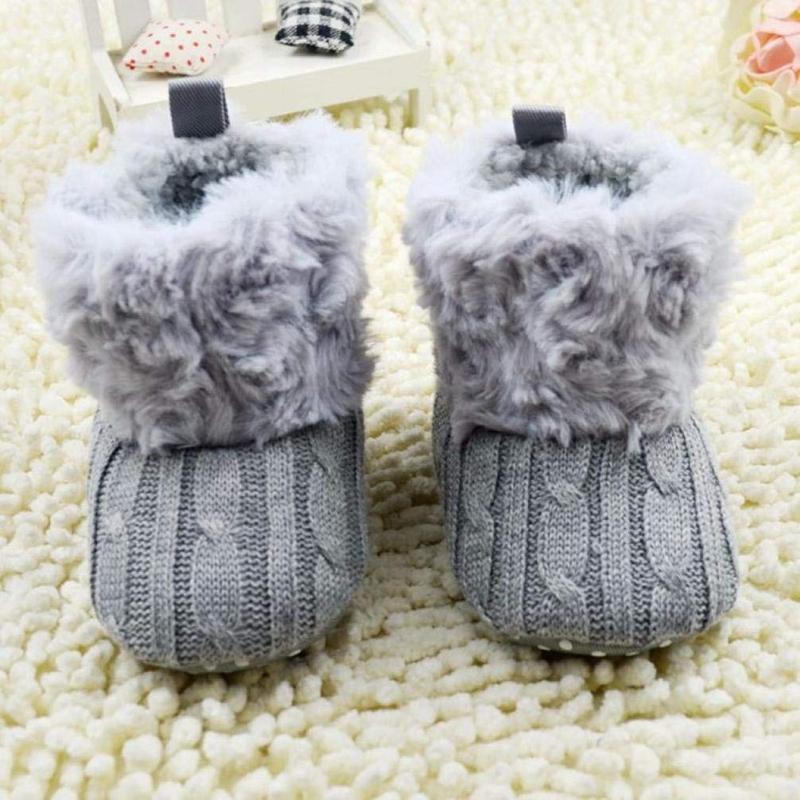 2X-Bottes-De-Neige-Pour-Fille-Enfant-Bambin-Bebe-Chaussures-Berceau-Chaussu-W3B2 miniature 12