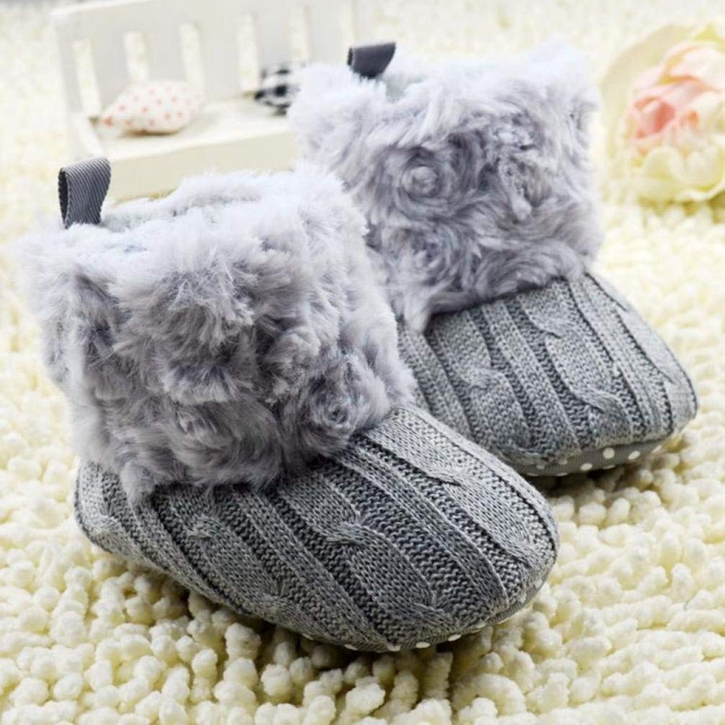 2X-Bottes-De-Neige-Pour-Fille-Enfant-Bambin-Bebe-Chaussures-Berceau-Chaussu-W3B2 miniature 13