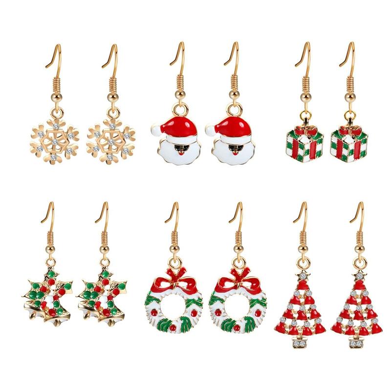 Geschenke Weihnachten Frau.Details Zu 2x Geschenke Weihnachten Ohrringe Set 6 Paare Fuer Frauen Madchen Golde Weih Gy