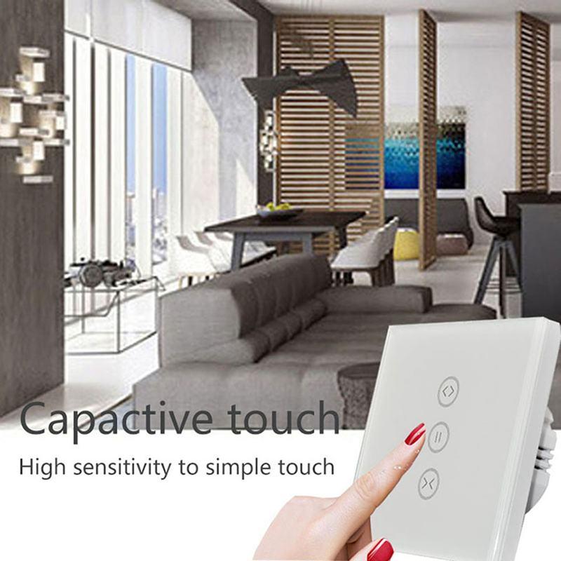 Electrical Tuya App Eu Wifi Smart Touch Curtain Switch Voice Control