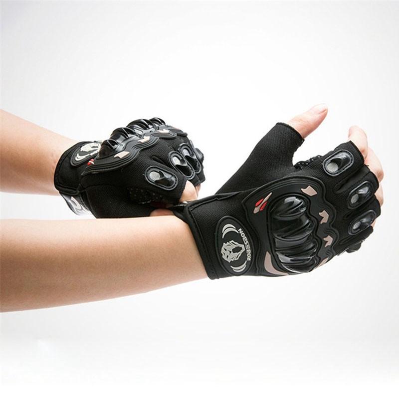 Robesbon-Gel-De-Gants-De-Velo-Chevalier-Demi-Doigt-Mitaines-De-Motocross-Gan-5Z6 miniature 4