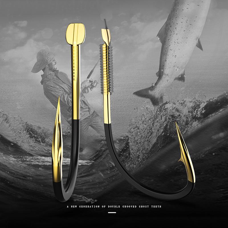 20Pcs-Fishing-Hooks-Fishing-Tackle-Durable-Fishhooks-Carp-Barbed-Hook-Ocean-C7Y3 thumbnail 3
