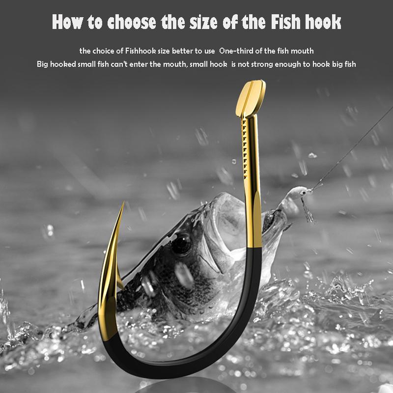 20Pcs-ganci-di-pesca-pesca-carpa-tackle-durevole-Ami-Spinato-Hook-Ocean-R-P2 miniatura 6