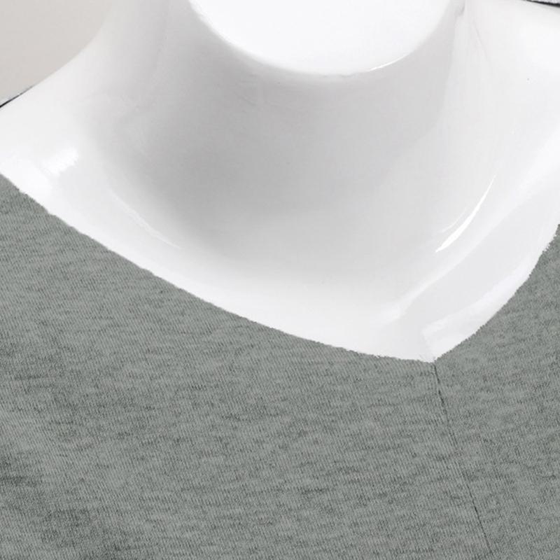 Chandail-Tricote-a-Longue-Manche-De-Couleur-Pure-De-Col-En-V-a-La-Mode-Pour-O3D9 miniature 6