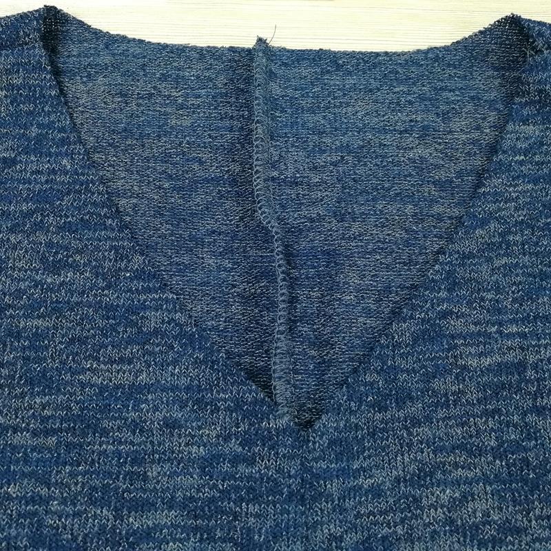Chandail-Tricote-a-Longue-Manche-De-Couleur-Pure-De-Col-En-V-a-La-Mode-Pour-O3D9 miniature 25