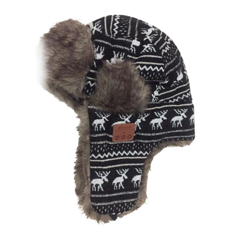 08c5e5d7272699 Snow Hat Cap Hats Earflaps Fur Caps Snow Cap Bluetooth Warm Cap DE ...