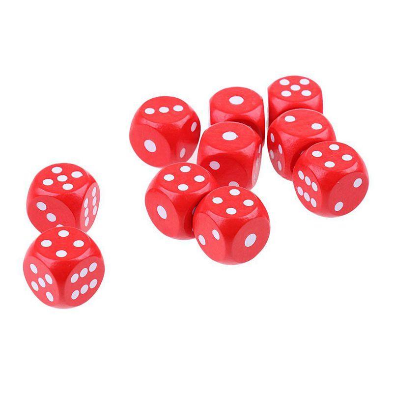 10-a-Six-Cotes-D6-Des-pour-Jeux-DE-Societe-Fait-DE-Bois-A1T8 miniature 3