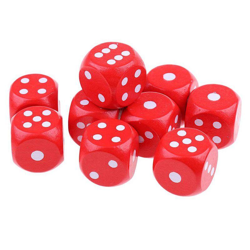 10-a-Six-Cotes-D6-Des-pour-Jeux-DE-Societe-Fait-DE-Bois-A1T8 miniature 4