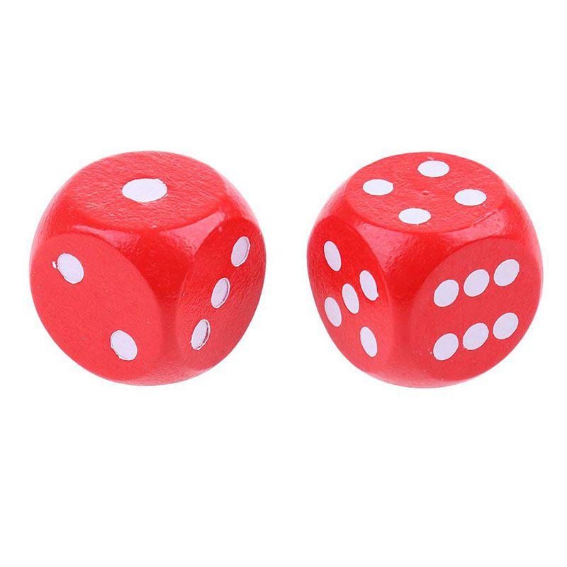 10-a-Six-Cotes-D6-Des-pour-Jeux-DE-Societe-Fait-DE-Bois-A1T8 miniature 5