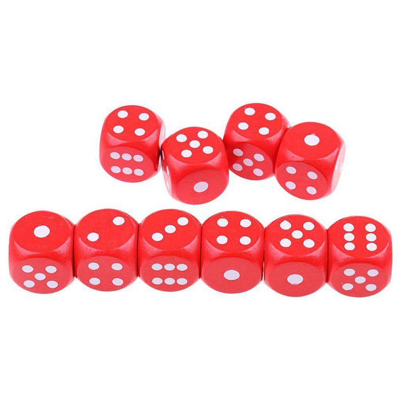 10-a-Six-Cotes-D6-Des-pour-Jeux-DE-Societe-Fait-DE-Bois-A1T8 miniature 6