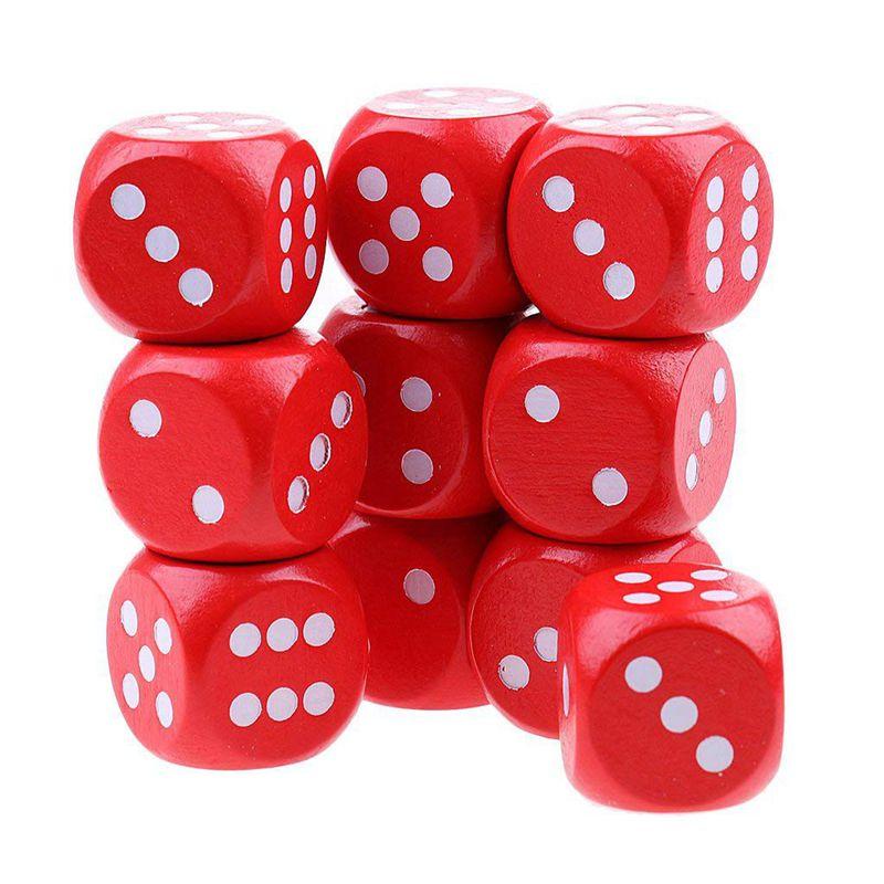 10-a-Six-Cotes-D6-Des-pour-Jeux-DE-Societe-Fait-DE-Bois-A1T8 miniature 7