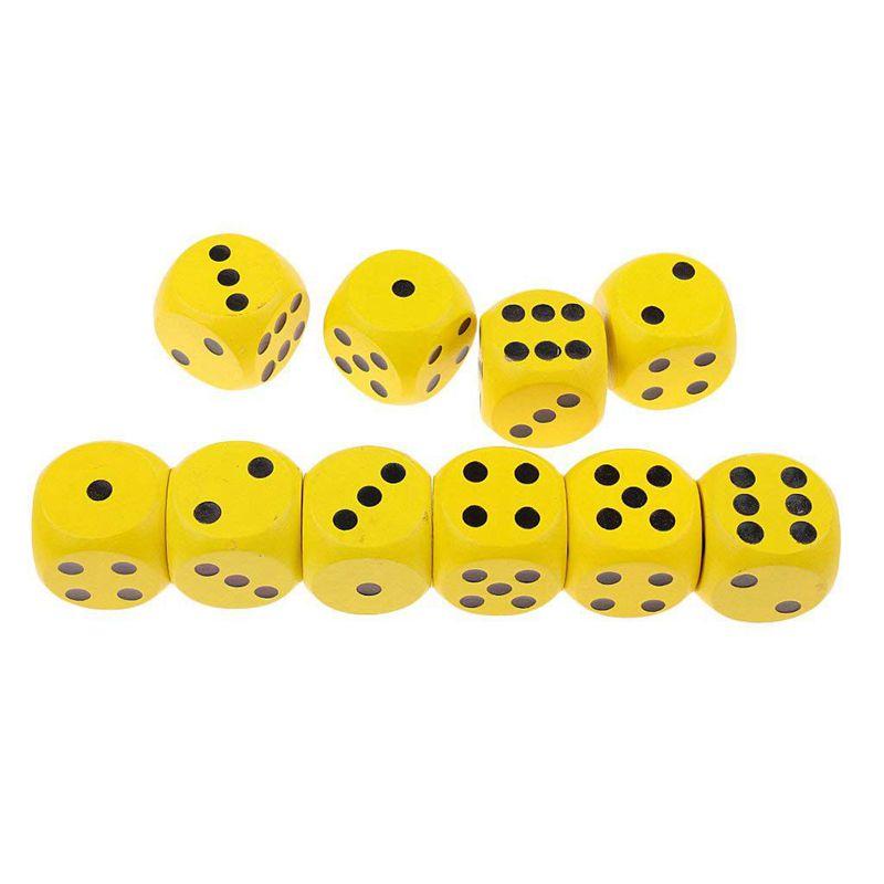10-a-Six-Cotes-D6-Des-pour-Jeux-DE-Societe-Fait-DE-Bois-A1T8 miniature 18