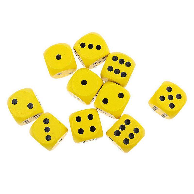 10-a-Six-Cotes-D6-Des-pour-Jeux-DE-Societe-Fait-DE-Bois-A1T8 miniature 19